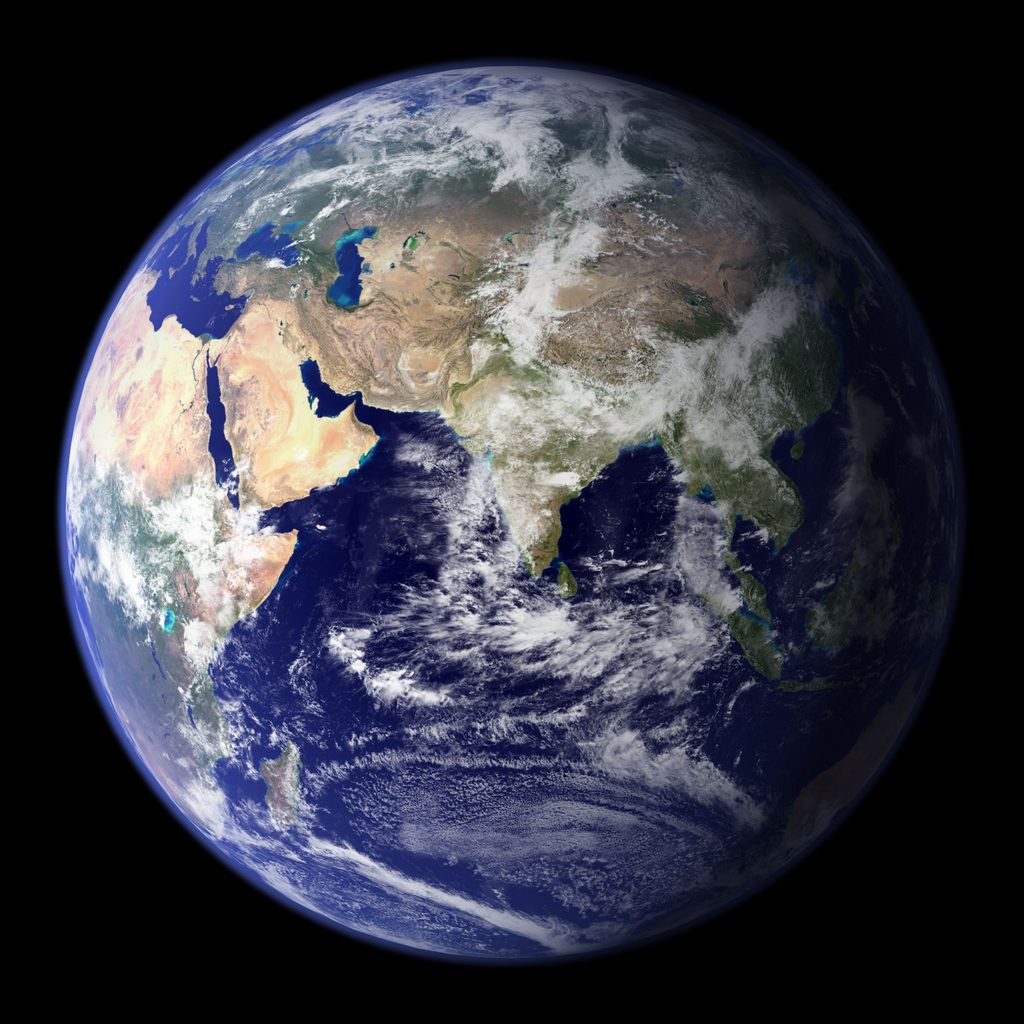 Blue Marble West East